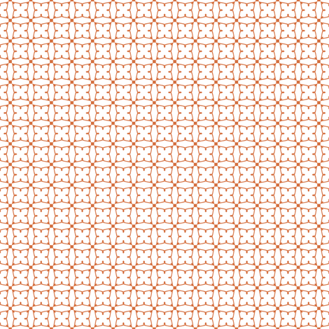 Circles and squares in coral on white fabric by bargello_stripes on Spoonflower - custom fabric