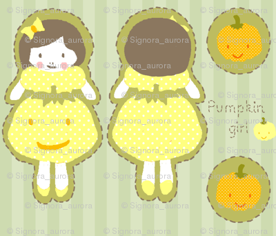 pumpkin girl plushie