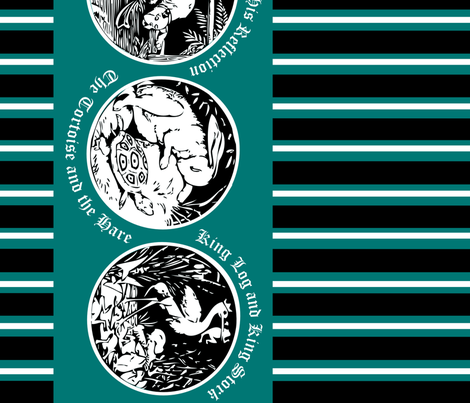 Aesop's Fables fabric by theflittermouse on Spoonflower - custom fabric