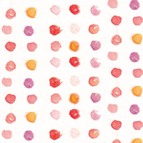 warm color water color circles