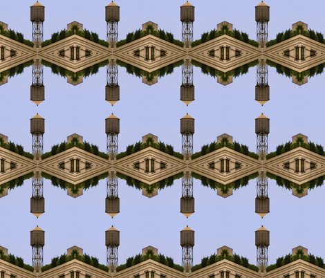 NYC Water Tower fabric by dollyw on Spoonflower - custom fabric