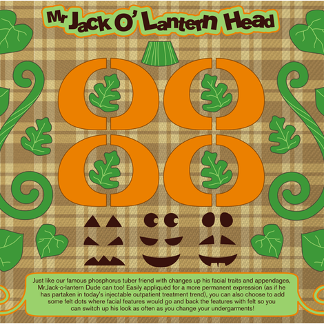 Mr Jack O'Lantern Head fabric by theboerwar on Spoonflower - custom fabric