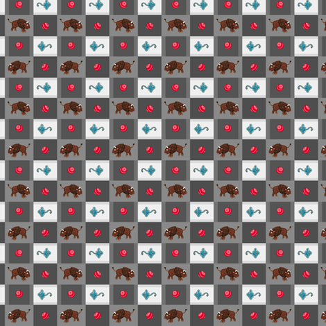 Toys Go Out gray plaid fabric by paul-ny on Spoonflower - custom fabric