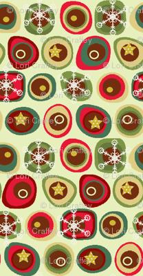 Tis the Season for Snowflakes- linen