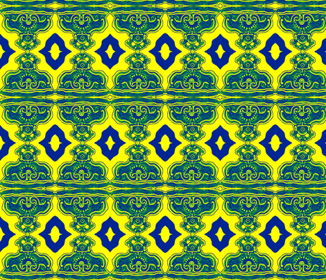 Blue-Green-Yellow Formal Sconce fabric by robin_rice on Spoonflower - custom fabric