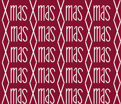 xmas- cranberry fabric by paragonstudios on Spoonflower - custom fabric