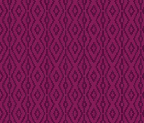 Aztec Diamonds in Plum fabric by ashleycooperdesign on Spoonflower - custom fabric