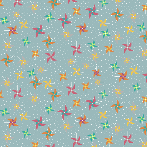 Pinwheel rain fabric by mrshervi on Spoonflower - custom fabric