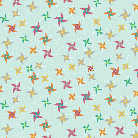Pinwheelsky fabric by mrshervi on Spoonflower - custom fabric