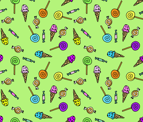 Candy Scatter Lime fabric by toni_elaine on Spoonflower - custom fabric