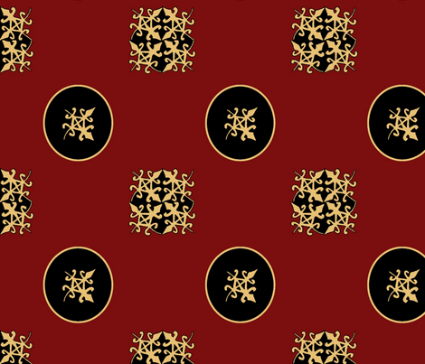Funtunfunafu Adinkra pattern fabric by nalo_hopkinson on Spoonflower - custom fabric
