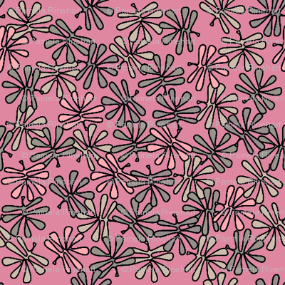 leafy pinks