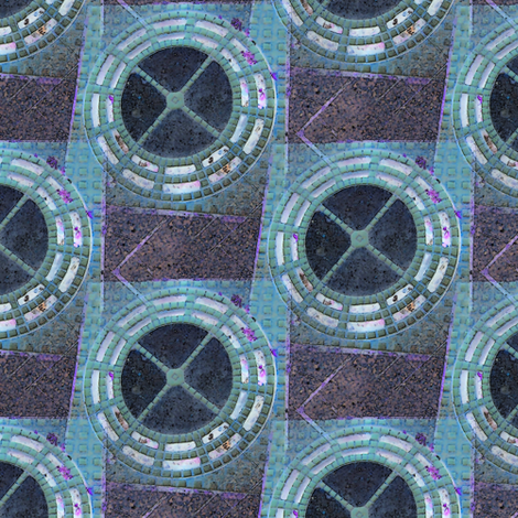 Space station fabric by nalo_hopkinson on Spoonflower - custom fabric