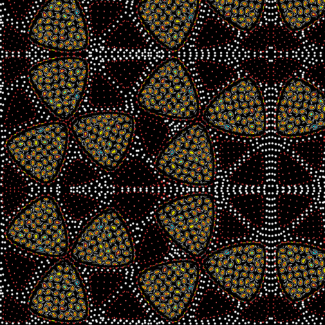 millefiore fabric by glimmericks on Spoonflower - custom fabric