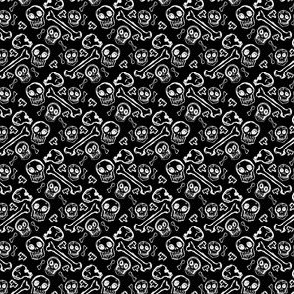 Scribble Goth - Ditzy Bones in black