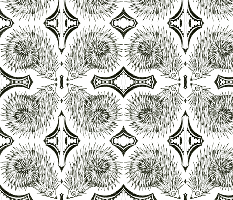 Jessie's Hedgehog fabric by joonmoon on Spoonflower - custom fabric