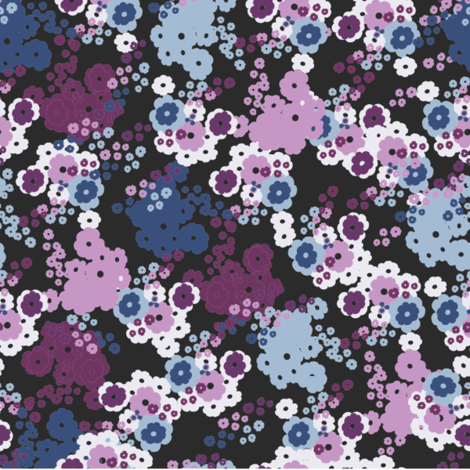 Ditsy_floral_burgundy & Pink fabric by tseye on Spoonflower - custom fabric