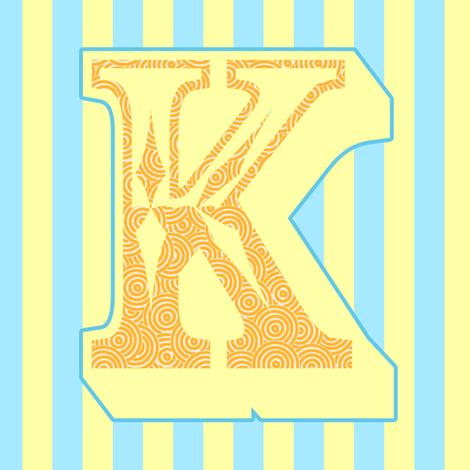 Bright Bunting K fabric by blackwood on Spoonflower - custom fabric