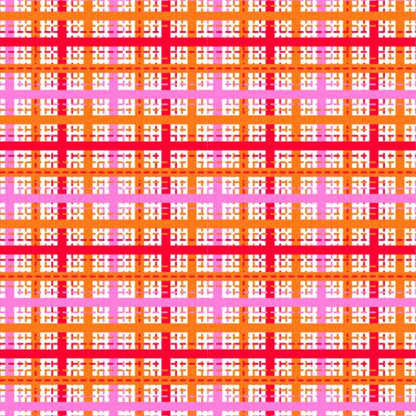 Tilkkutakki (Warm Colours) E fabric by nekineko on Spoonflower - custom fabric