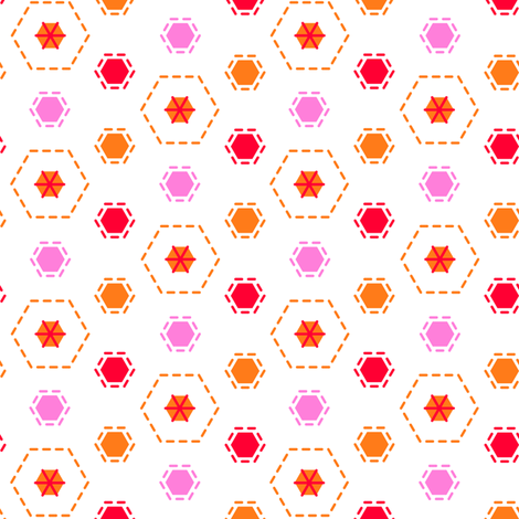 Tilkkutakki (Warm Colours) I fabric by nekineko on Spoonflower - custom fabric