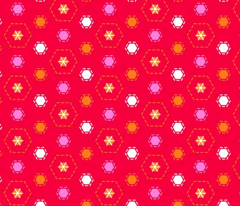 Tilkkutakki (Warm Colours) J fabric by nekineko on Spoonflower - custom fabric