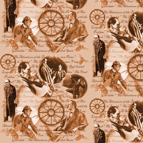 The Great Detective-Sepia-ed fabric by marchhare on Spoonflower - custom fabric