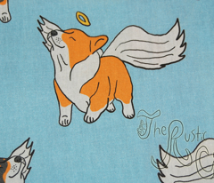 Little Corgi Angels - blue