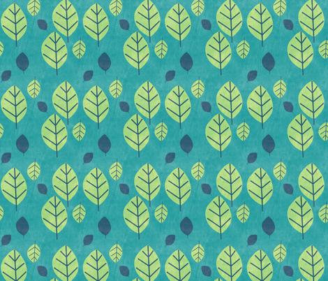 Trees Leaves - Night Falls Softly - © PinkSodaPop 4ComputerHeaven.com fabric by pinksodapop on Spoonflower - custom fabric