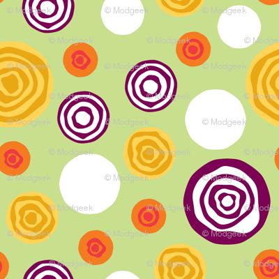 Sliced Dots : Greens