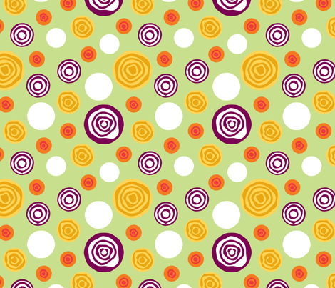 Sliced Dots : Greens fabric by modgeek on Spoonflower - custom fabric