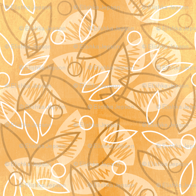 Sketchy Leaves (Peach)