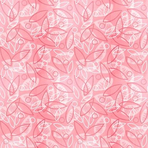 Sketchy Leaves (Pink)
