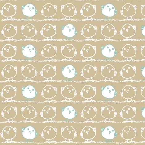 Tiny Blue Birds fabric by wiccked on Spoonflower - custom fabric