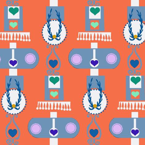 Princess Sophie Magdalene Stripes fabric by boris_thumbkin on Spoonflower - custom fabric
