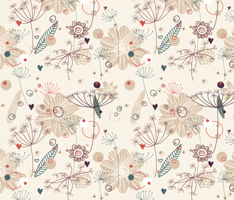 Nature pattern fabric by innaogando on Spoonflower - custom fabric