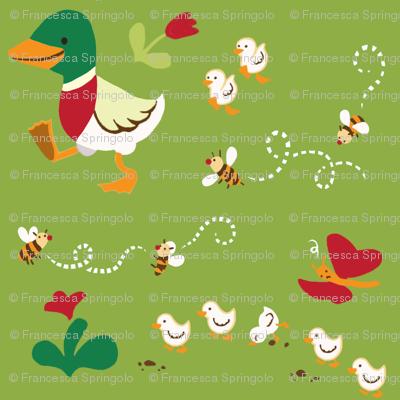 Ducks family.