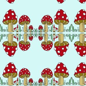 Mushroom & Gnomes - Mirror Image