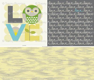"""OWL LOVE PILLOW in """"YARROW"""""""