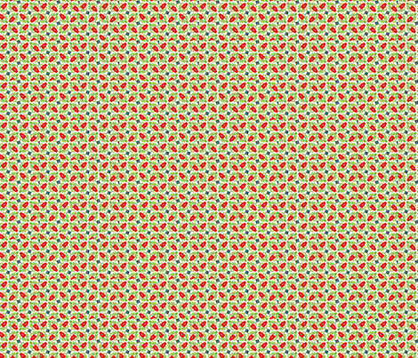 Floral ditsy -Red fabric by kinetik_soul_textiles on Spoonflower - custom fabric