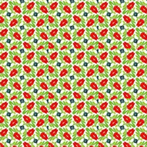 Floral ditsy -Red