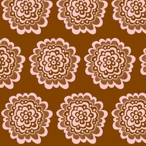Flor - Pink on Brown