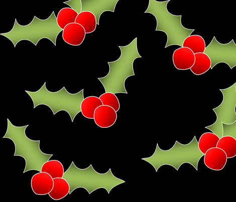 The Holly fabric by lowa84 on Spoonflower - custom fabric