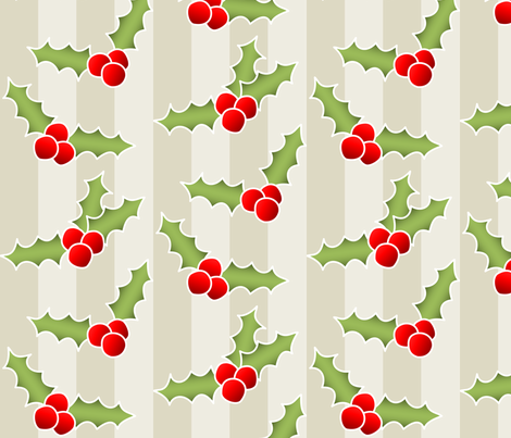 The Holly (Striped) fabric by lowa84 on Spoonflower - custom fabric