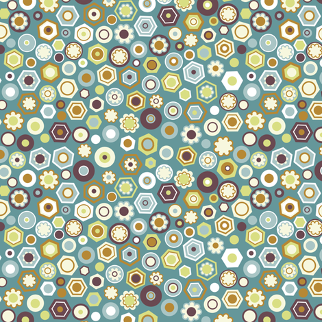 "MILLEFIORI in ""MALACHITE"" fabric by trcreative on Spoonflower - custom fabric"