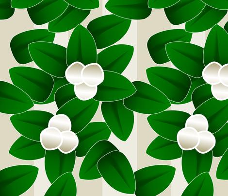 Meet Me Under The Mistletoe fabric by lowa84 on Spoonflower - custom fabric
