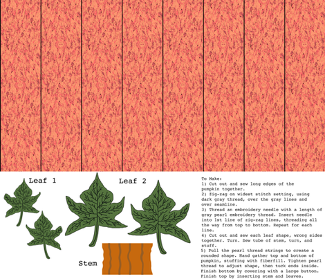 Small Light-Orange Pumpkin Plushie fabric by bargello_stripes on Spoonflower - custom fabric