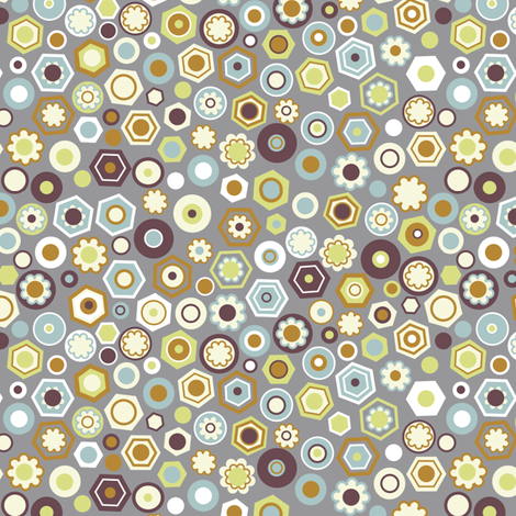 "MILLEFIORI in ""LODEN"" fabric by trcreative on Spoonflower - custom fabric"
