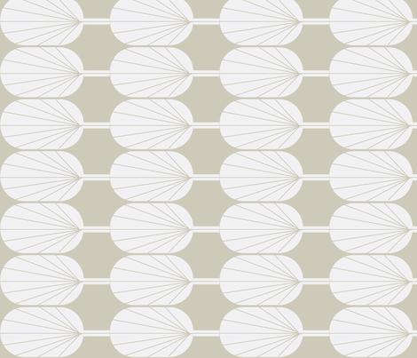 Fanpod white on greige fabric by ninaribena on Spoonflower - custom fabric