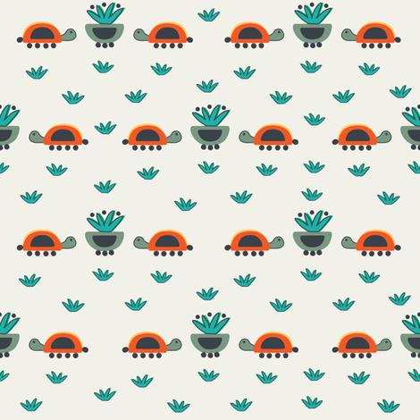 Tortugas y macetas fabric by gabriela_larios on Spoonflower - custom fabric