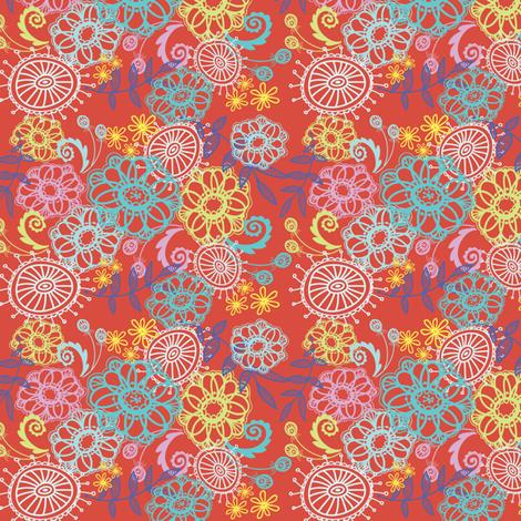 Moosey Red Print fabric by stephaniecorfee on Spoonflower - custom fabric